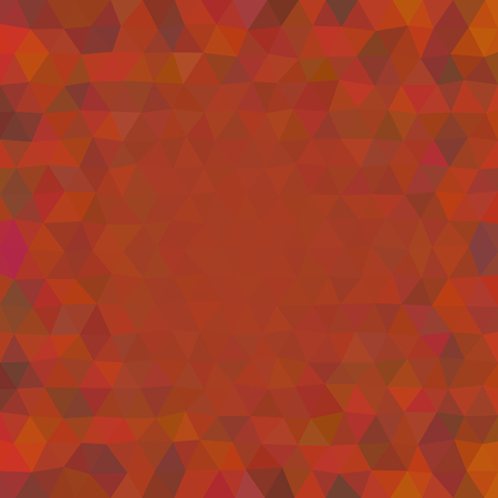 Abstract red colored triangular low poly pattern
