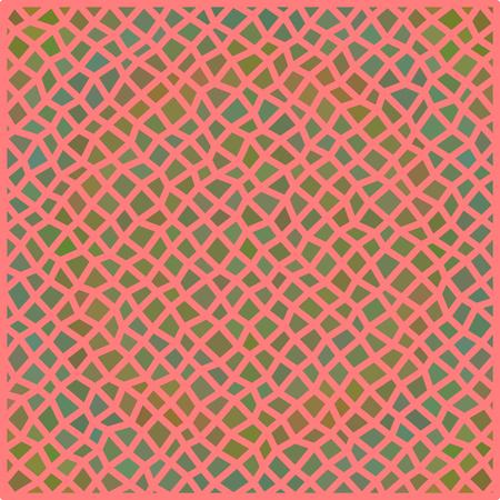 irregular: Abstract irregular polygonal pattern on square tile - digitally rendered background Illustration