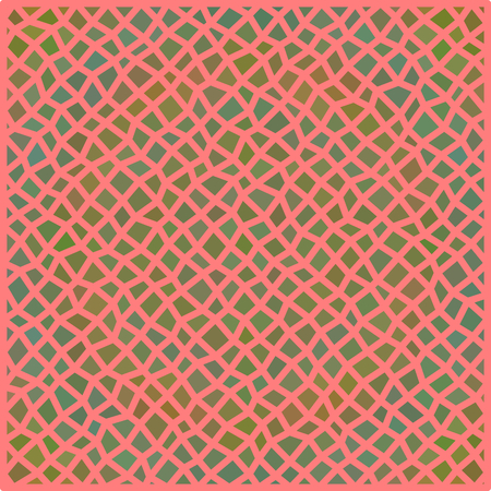 Abstract irregular polygonal pattern on square tile - digitally rendered background Illustration