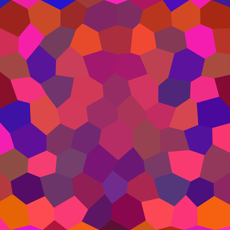 Abstract polygonal orange pink red purple blue violet brown background composed of small irregular hexagonal tiles - digitally rendered pattern
