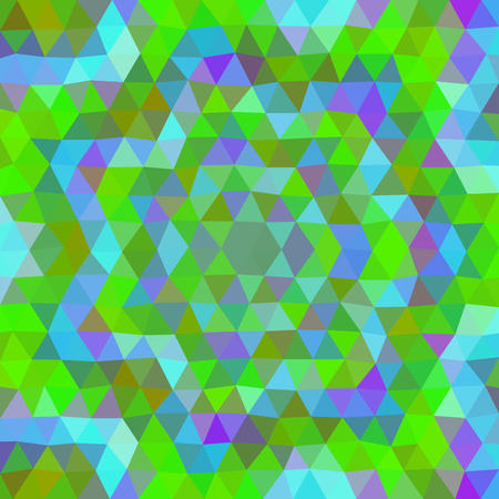 blue violet: Abstract green blue violet floral colored triangular low poly pattern Illustration
