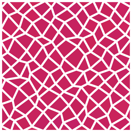 netting: Abstract red geometric irregular low polygonal pattern with white countour Illustration