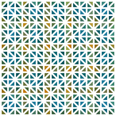 ocher: Abstract blue green turquoise yellow ocher gold triangle shapes geometric low polygonal pattern with white countour