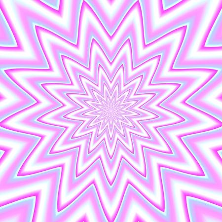 centralized: Big decorative centralized flower on square tile Stock Photo