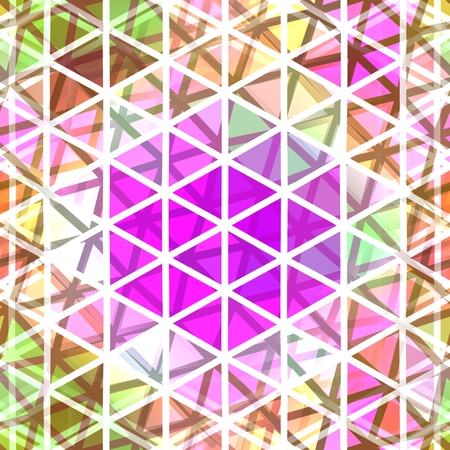 Abstract seamless low poly triangular pattern Stock Photo