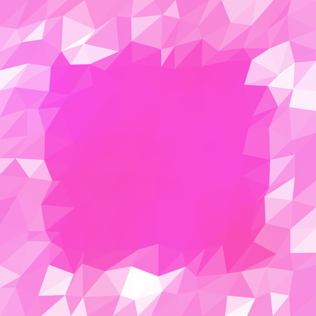 monochromatic: Abstract pink white low poly geometrical monochromatic background