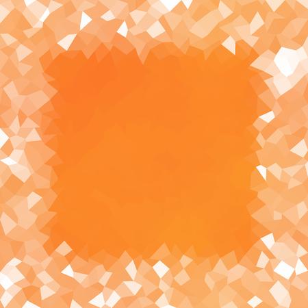 Pumpkin orange color geometric low poly background Illustration