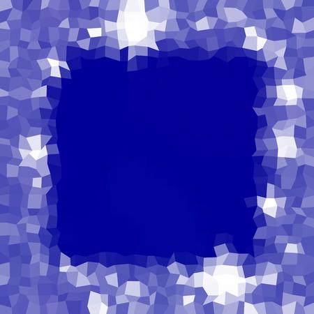 tonality: Blue white pattern with irregular small tiles - festive winter background