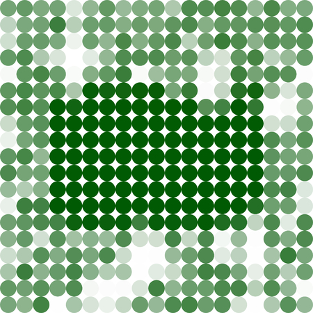icy: Abstract fir green white spotted icy winter background with snow crystals, a highlighted rectangular border.