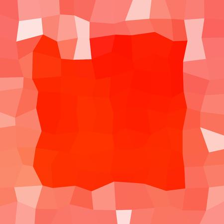 Résumé blanc rouge low poly glace fond d'hiver avec des cristaux de neige, un carré mis en évidence la frontière. Banque d'images - 60539178