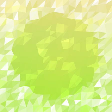 icy: Abstract triangular yellow green white icy winter background with snow crystals, a highlighted border. Illustration