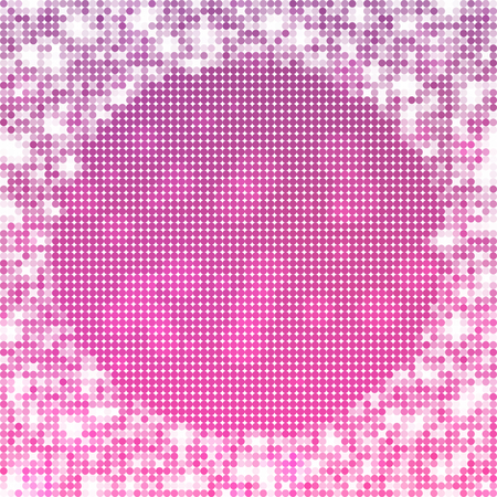 heather: Abstract spotted pink white icy winter background with snow crystals, a highlighted border.