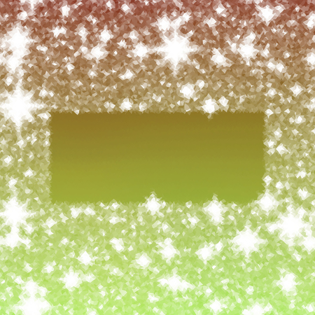 icy: Abstract icy winter background with snow crystals, a rectangular highlighted border. Illustration