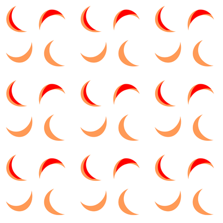 night suit: Compact monochrome background decorated with colorful moon crescents - digitally drawing - seamless pattern tile. Illustration