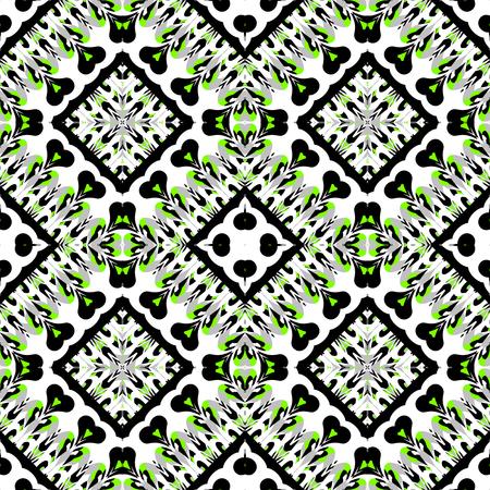 seamless tile: Abstract seamless ornamental tile Stock Photo