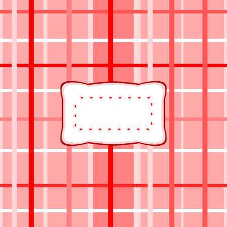 etiquette: Abstract checkered pattern with decorative etiquette