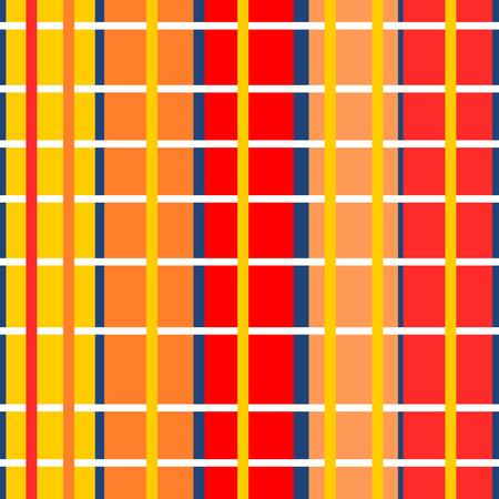Abstracte kleurrijke kruis over gestreept eenvoudige geometrische patroon Stock Illustratie