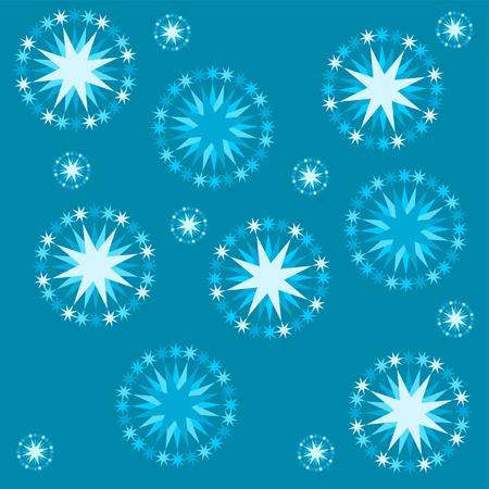 Abstracte monochromatische blauwe sterrenhemel patroon tegel - bruikbaar als verpakkend gift papier of stof tapijt Stock Illustratie
