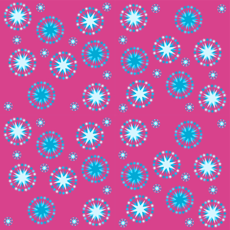 carpeting: Abstract red blue starry pattern tile - usable as wrapping gift paper or fabric carpeting