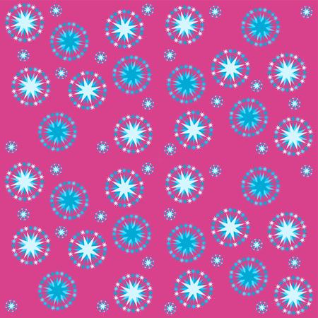 Abstracte rode blauwe sterrenhemel patroon tegel - bruikbaar als verpakkend gift papier of stof tapijt Stock Illustratie