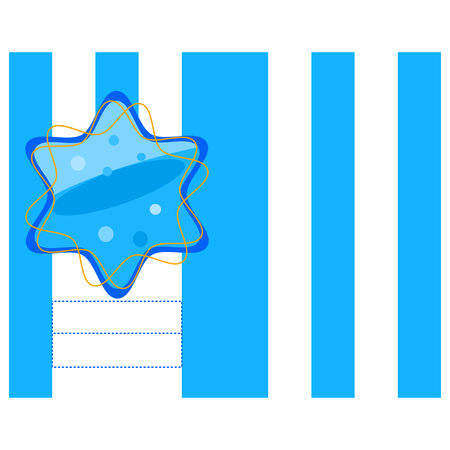 mitzvah: Blue white gold decorative invitation or congratulation with six-pointed star. Possibility write-up text or names. Illustration