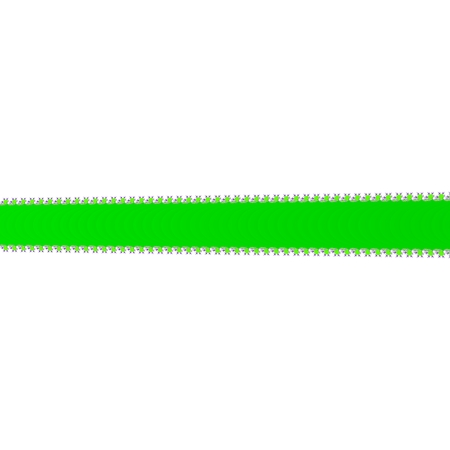 bordered: Green undulated fractal bordered band on clear white background Stock Photo