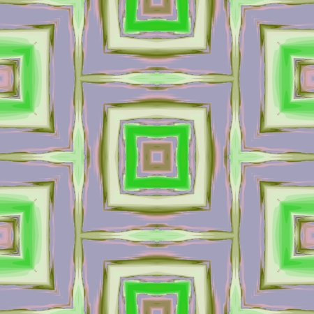 tile able: Abstract checkered violet gray green brown fractal pattern in art nouveau style