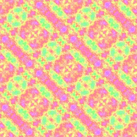 diagonally: Pink yellow green oblique regular fractal pattern