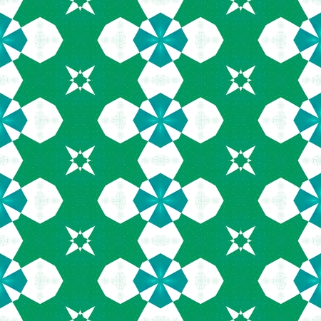 Seamless pattern with colorful floral repeating shapes - digitally rendered graphic