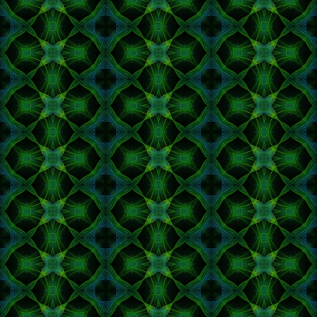 mirroring: Abstract seamless blue green fractal floral pattern