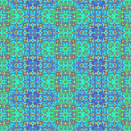 Turquoise blue ornamental tile