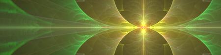 Large green yellow fractal banner