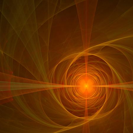 Red orange abstract fractal design