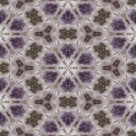 secession: Floral kaleidoscopic pink gray pattern usable for fabric print