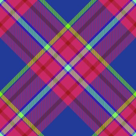 Seamless tartan - digitally rendered raster texture with diagonally checkered pattern