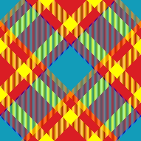 Seamless tartan - digitally rendered raster texture with diagonally checkered pattern