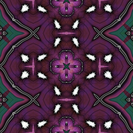 Abstract kaleidoscopic pattern in retro style