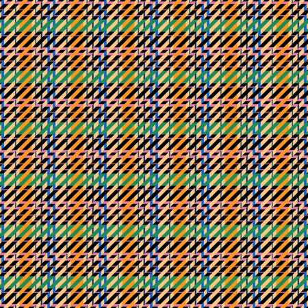 Tartan pattern - digitally rendered fractal illustration