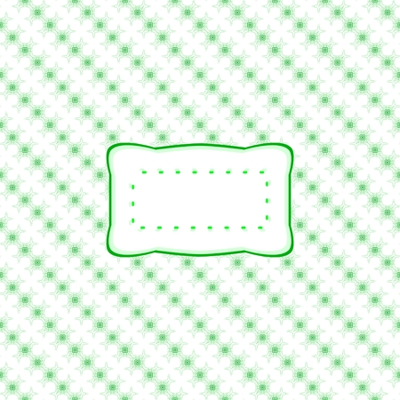 Abstract retro white and green oblique pattern with label