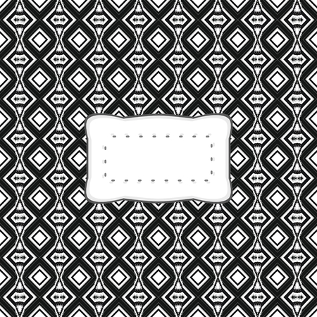 Abstract decorative pattern with label
