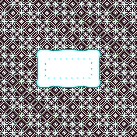 Abstract retro ornamental pattern with label