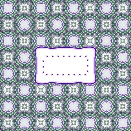 Abstract retro checkered pattern with label Фото со стока