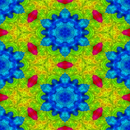 contrast floral: Abstract seamless colorful kaleidoscopic pattern