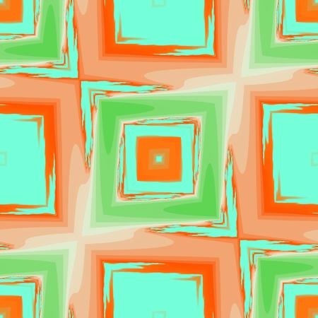 Abstract seamless orange design - fractal manipulation