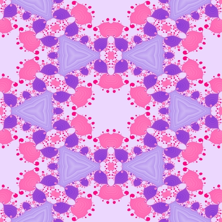 Pink purple abstract ornamental fractal design Stock Photo