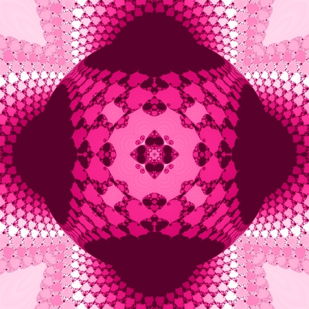Pink decorative design - seamless pattern usable for scrapbooking, textile print or paving tiles Stock Photo