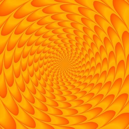 Orange energy emitter - abstract centralized meditation pattern