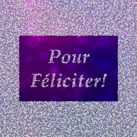 Pour Feliciter - New Years Greetings in French, used in the Czech Republic Stock Photo
