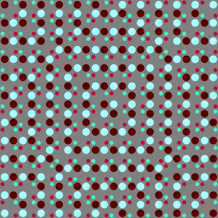 Abstract colorful spotted gray blue red pattern Stock Photo