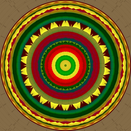 Indian mandala inspired by the Mesoamerican culture